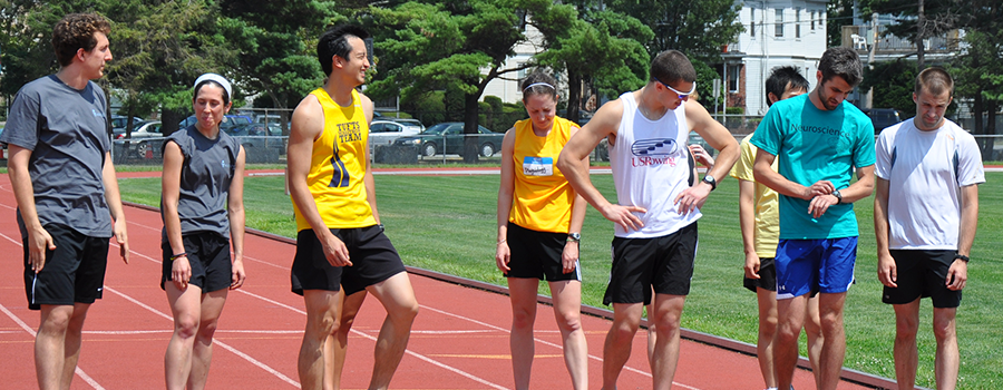 students competing at the Relays