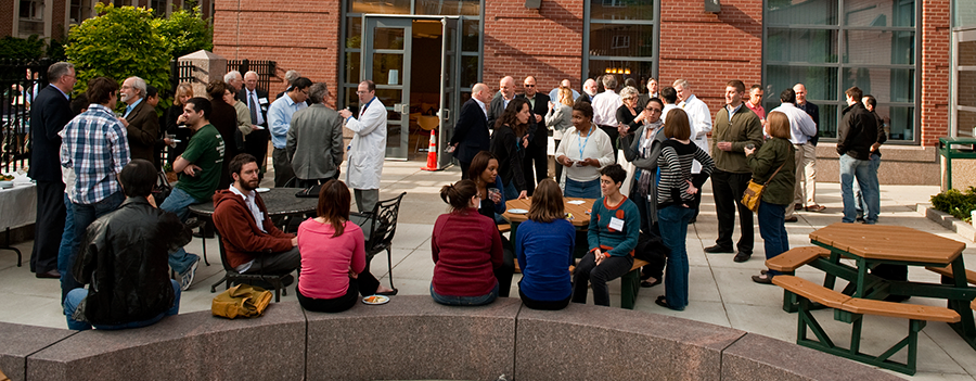 gathering of students and faculty