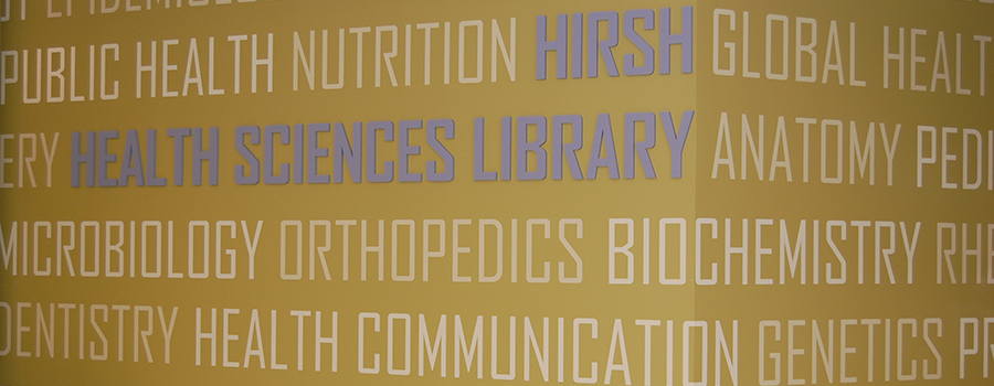 Hirsh Library sign