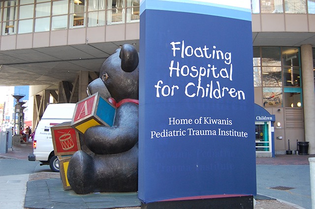 Floating Hospital for Children sign at Tufts Medical Center