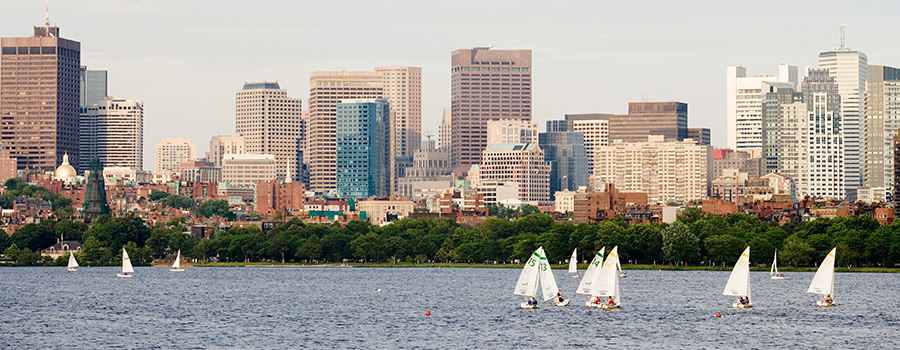 View of Charles River & Boston
