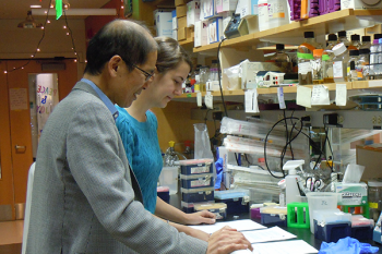 Student and faculty member